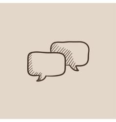 Speech squares sketch icon vector