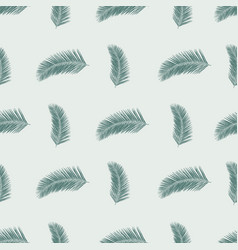 subtle green abstract fern leaves seamless vector image