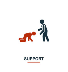 Support icon premium style design from teamwork vector