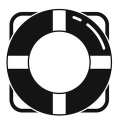 Survival life buoy icon simple style vector