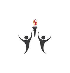 Torch logo vector