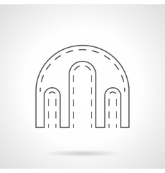Triple arch flat line icon vector