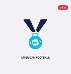 two color american football medal icon from vector image