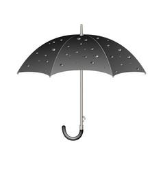 umbrella in dark design with raindrops vector image