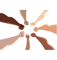 unity people on white vector image