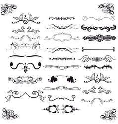 vintage victorian design elements vector image