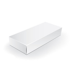 White package box packaging mock up template vector