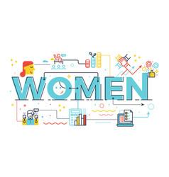 Women word in business concept vector