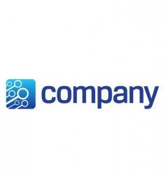 connection cloud logo vector image vector image