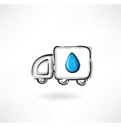 fuel car grunge icon vector image vector image