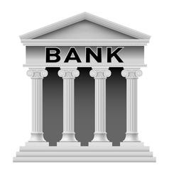 Bank building symbol vector