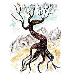 Dead Tree Sketch03 vector image