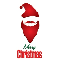 Merry Christmas and Santa Claus isolated on white vector image vector image
