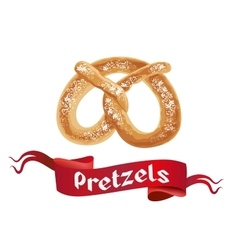 Oktoberfest poster with pretzels on white vector