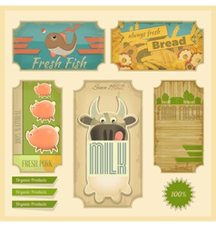 Organic products vector