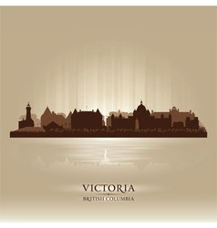 Victoria British Columbia skyline city silhouette vector image
