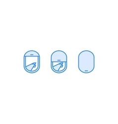airplane window view icon vector image