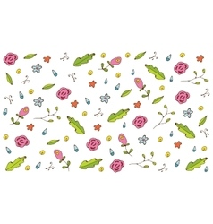 Colorful hand drawn floral seamless pattern vector image vector image