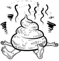 doodle squish poo pile vector image vector image