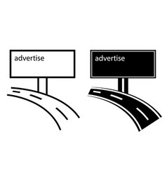 Advertise channels on billboard vector