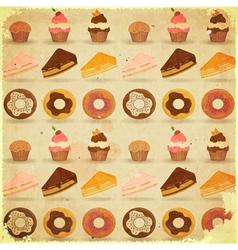Dessert background vector