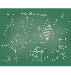 Mathematics - geometric shapes and expressions vector image