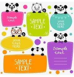 Panda and kittens vector image