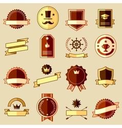Retro flat vintage labels signs badges vector image vector image