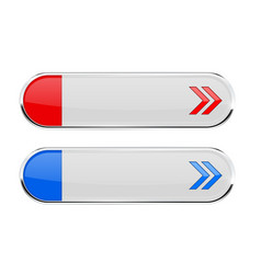 white oval buttons with colored arrows menu vector image vector image