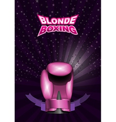 Womens boxing gloves pink sport background with vector image