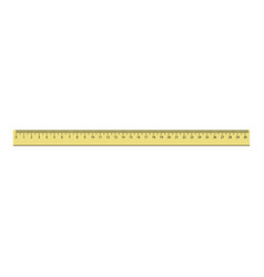 30 cm plastic ruler icon realistic style vector image