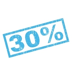 30 Percent Rubber Stamp vector
