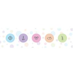5 clock icons vector