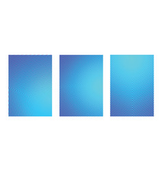 a4 fading blue line pattern background set vector image
