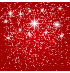 Abstract red winter background vector