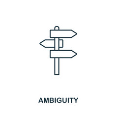 ambiguity outline icon thin line style from big vector image