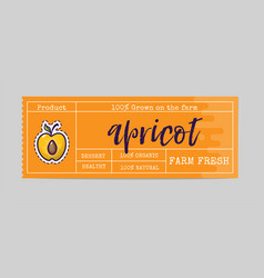Apricot sticker and eco products web vector