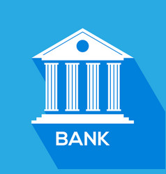 bank icon for mobile web apps banking concept vector image