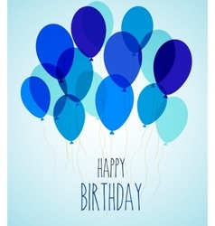 Birthday party balloons in blue vector