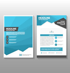 Blue polygon annual report Leaflet Brochure Flyer vector image