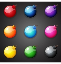 Bombs For Match Three Game vector image