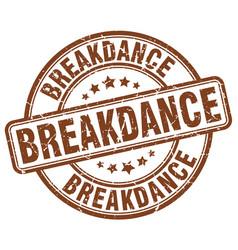 Breakdance stamp vector