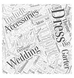Bridal accessories for a tropical wedding word vector