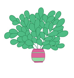 Cartoon colored plant with long branches and vector