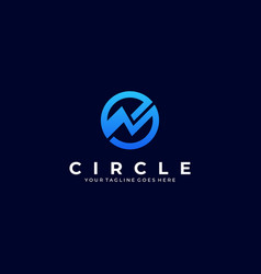 circle growing template vector image