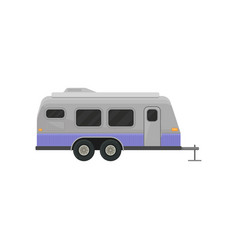 classic camper trailer for family journey home on vector image