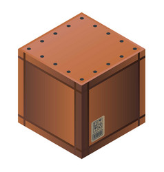 closed parcel box icon isometric style vector image