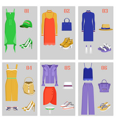 clothes collection images set vector image