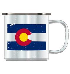 Colorado tin cup vector