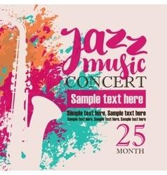 Concert jazz music festival vector